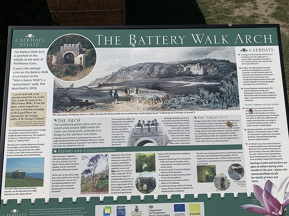 The Battery Walk Arch, Caehays Estate Cornwall